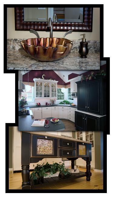 Photos of vessel sink, traditional kitchen, custom island